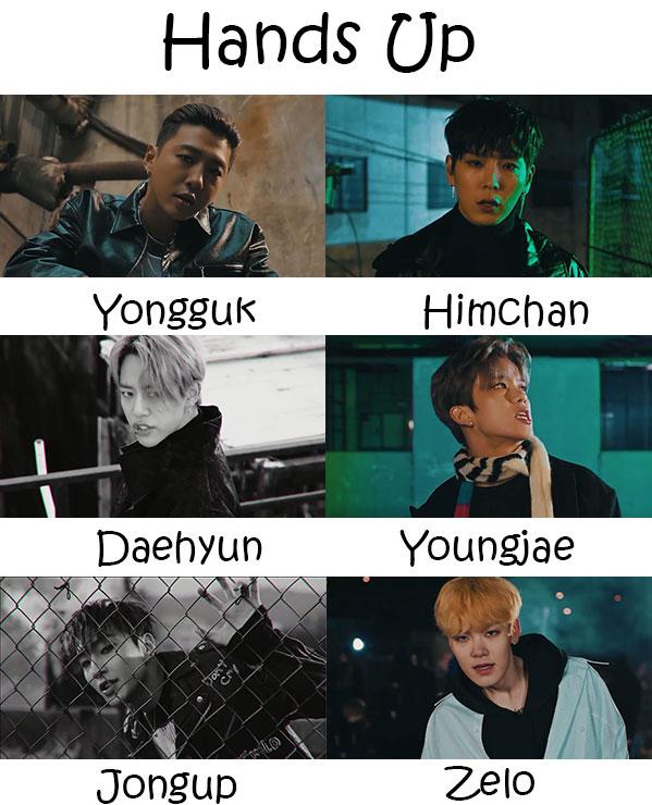 B.A.P Members Name دانلود آهنگ کره ای Hands Up از گروه B.A.P با کیفیت اصلی و متن