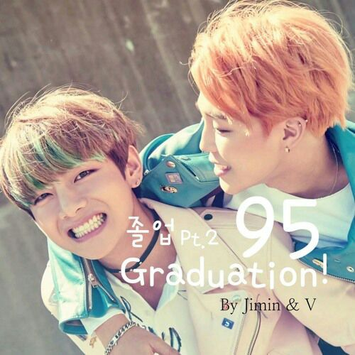Jimin V BTS Pic دانلود آهنگ 95 Graduation از جیمین و تهیونگ Jimin & V (BTS) با متن