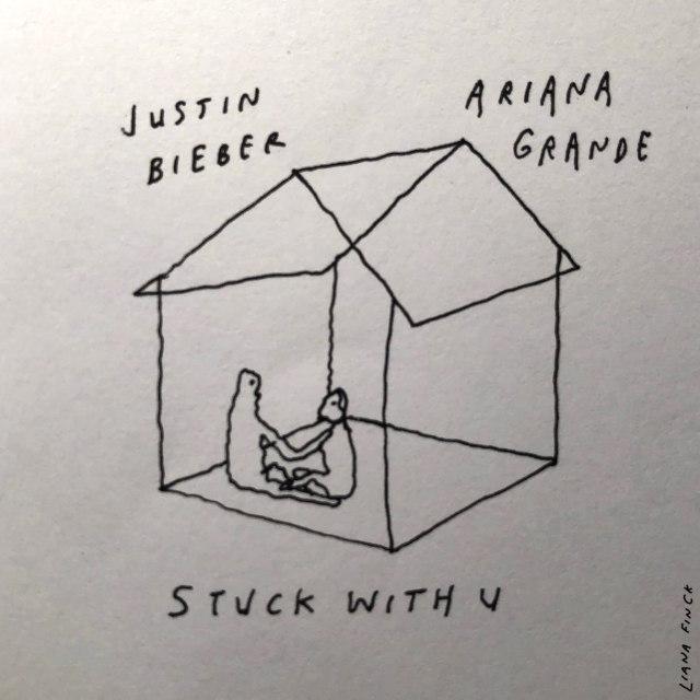 justin bieber ariana grande stuck دانلود آهنگ Stuck With You از آریانا گرانده و جاستین بیبر + متن ترانه